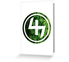 47 GREEN WEED LEAVES CIRCLE Greeting Card