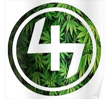 47 GREEN WEED LEAVES CIRCLE Poster
