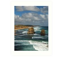 Blue Ocean Cliffs Art Print
