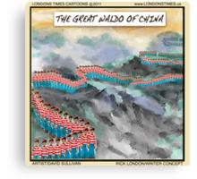 Great Waldo Of China Canvas Print