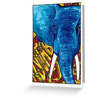 Nyumbani Graffiti Elephant Greeting Card