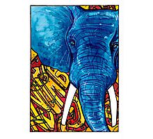 Nyumbani Graffiti Elephant Photographic Print