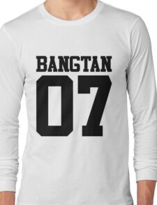 BTS/Bangtan Boys Jersey Style w/Number Long Sleeve T-Shirt