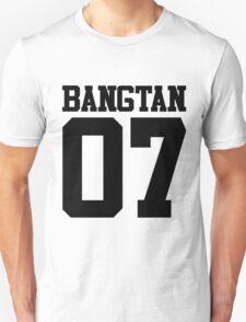 BTS/Bangtan Boys Jersey Style w/Number Unisex T-Shirt