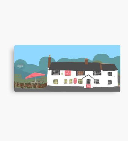Crown Pub Canvas Print