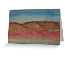 Abstract Hills, watercolor Greeting Card
