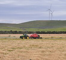 Baling hay by Ian Berry