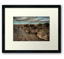 Cleveleys Rock Pool Framed Print