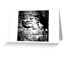 stone spirit, siem reap, cambodia Greeting Card