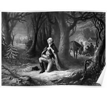General Washington Praying At Valley Forge Poster