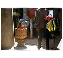 anonymous gift, oudong, cambodia Poster