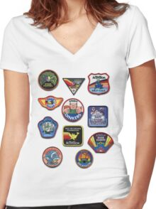 Patch Me Women's Fitted V-Neck T-Shirt