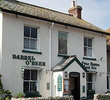 Barrel Of Beer Pub,  Beer, Devon by lynn carter