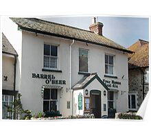 Barrel Of Beer Pub,  Beer, Devon Poster