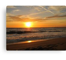 Sunset - Playa del Rey Canvas Print