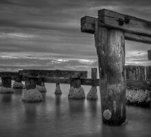 Mentone Pier B&W by Scott Sheehan