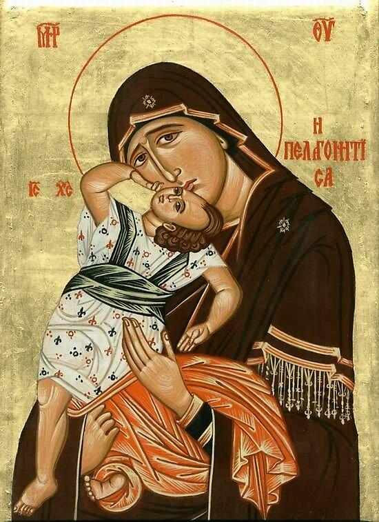 Mother of God Pelagonitissa by Blagojce Petrovski