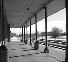 Empty Train Station by Mannabelles