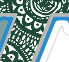 Tulane Zentangle Logo Sticker