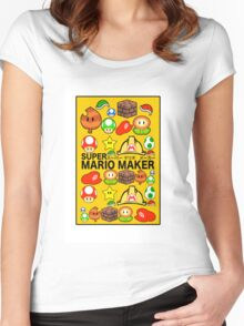 Super Mario Maker Women's Fitted Scoop T-Shirt