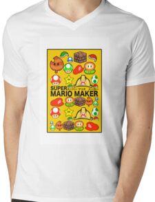 Super Mario Maker Mens V-Neck T-Shirt
