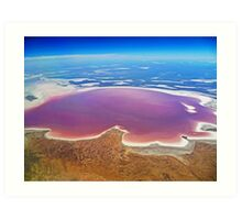 Lake Eyre - Aerial View Art Print