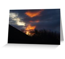 Red Sky etc Greeting Card