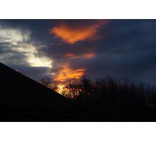 Red Sky etc Photographic Print
