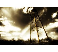 Water Tower Justin Texas Photographic Print
