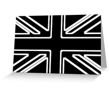 Black & White Union Flag Greeting Card