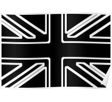 Black & White Union Flag Poster