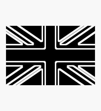 Black & White Union Flag Photographic Print