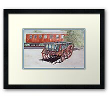 As Time Goes by in Old Tailem Town Watercolour Painting Framed Print