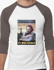 Buy War Bonds -- World War II Men's Baseball ¾ T-Shirt