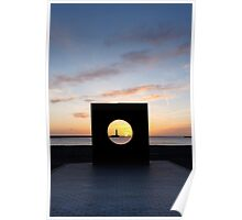 Sunrise through 'C' (wide) Poster