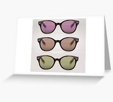 RayBan - phase one + HB 501 Greeting Card