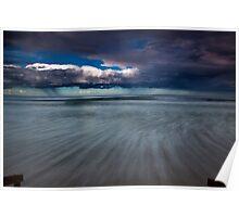 King Tide - Raafs Beach Ocean Grove Victoria Poster