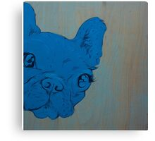 Frenchie's Blue Period Canvas Print