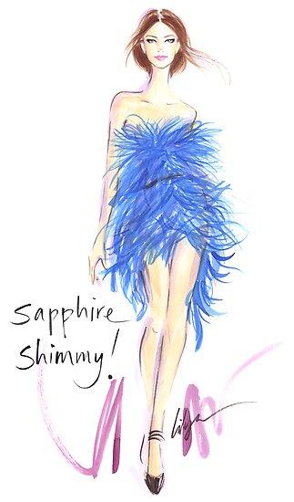 Sapphire Shimmy! by jenniferlilya