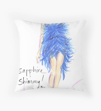 Sapphire Shimmy! Throw Pillow