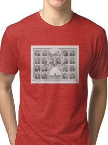 Presidents Of The United States 1776 - 1876  Tri-blend T-Shirt