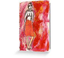 nude in red, 2011 Greeting Card