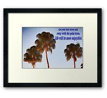 Hairy Palm Trees Framed Print