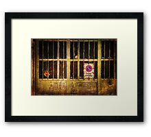 Sosta vietata :: No parking here Framed Print