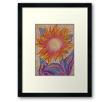 pastel sunflower Framed Print