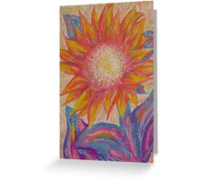 pastel sunflower Greeting Card