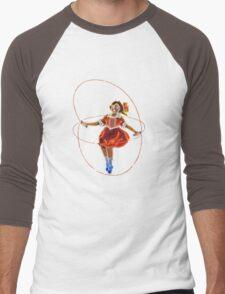Skipping Girl (Minus Vinegar) Men's Baseball ¾ T-Shirt