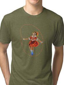 Skipping Girl (Minus Vinegar) Tri-blend T-Shirt