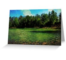 All is silent Greeting Card