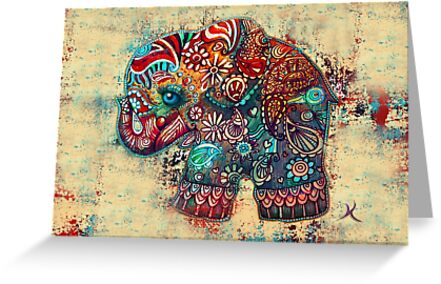 Vintage Elephant by © Karin Taylor